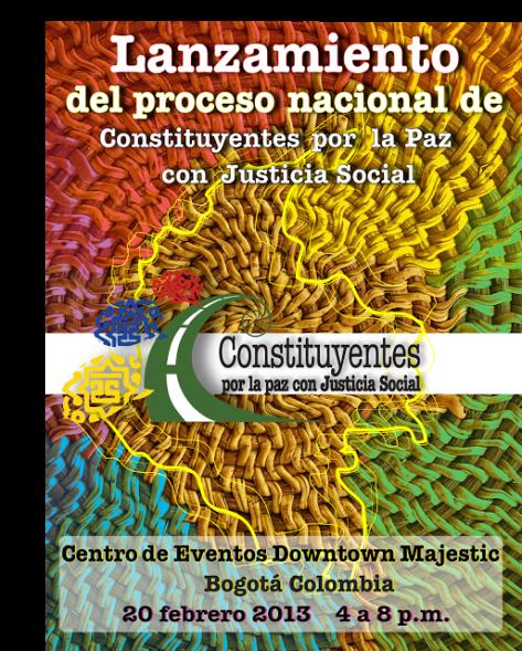 afiche Lanzamiento constituyentes
